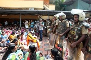 A sudden protest by devotees at the Sabarimala temple surprised the police as the heavy security deployment in the area has affected the pilgrim flow