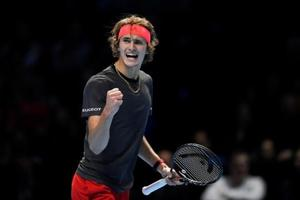 Alexander Zverev reacts during the final against Serbia