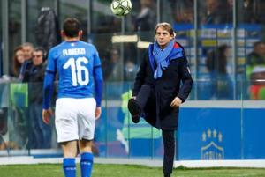 File image of Italy coach Roberto Mancini.