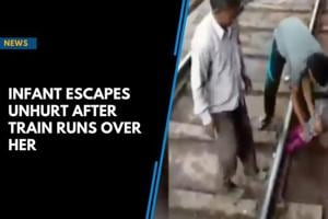 Watch: Infant escapes unhurt from under train in UP