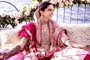 Deepika Ranveer Wedding: Deepika Padukone topped off her pretty mehendi ensemble with lots of bling via a statement rani haar. (Instagram)