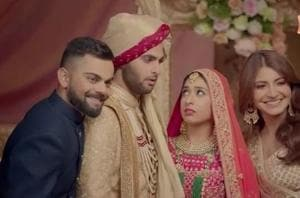 Virat Kohli and Anushka Sharma give 'shaadi ke baad' version of their famous ad.