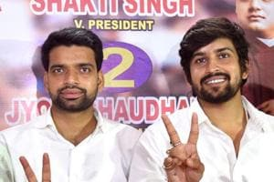 Ankiv Baisoya (left) stepped down as president of Delhi University Students Union over a controversy  regarding a fake degree used by him for getting admission in the varsity.
