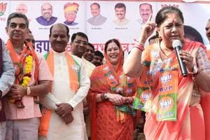 Former Congress MP Ijyaraj Singh and his wife Kalpana Raje joined the BJP in the presence of Rajasthan chief minister Vasundhara Raje ,in Kota on Monday.