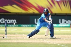 Harmanpreet Kaur of India bats during the ICC Women
