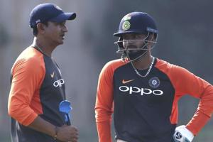 Sanjay Bangar (L) will be helping Test specialist during the T20I series.