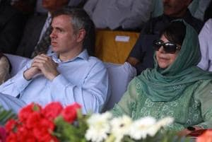 The National Conference, led by Omar Abdullah (left) had supported the Mehbooba Mufti-led PDP's claim to form the government.