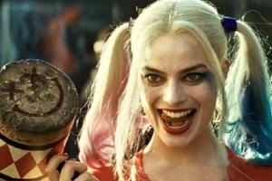 Margot Robbie as Harley Quinn in a still from Suicide Squad.