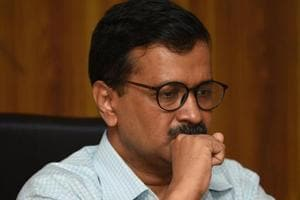 A man threw chilli powder at Delhi chief minister Arvind Kejriwal as he was leaving his offices at the Delhi Secretariat for lunch on Tuesday.