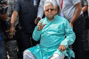 RJD chief Lalu Prasad Yadav in Patna.