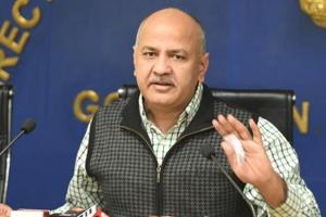 Delhi deputy chief minister Manish Sisodia addresses a press conference on the issue of an attack on Delhi CM Arvind Kejriwal on Tuesday, November 20, 2018.