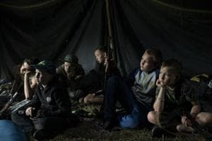 Photos: Training kids to kill at Ukrainian nationalist camps
