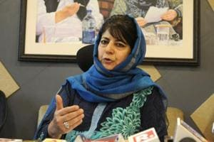 """PDP chief Mehbooba Mufti said """"the very idea of a grand coalition"""" had given jitters, in a sharp jibe at her former coalition partner BJP."""