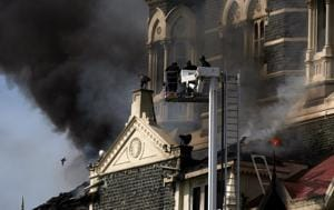 Fireman used smoke as defence against the terrorists