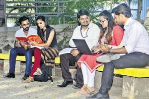 Students of Pumba, are seen preparing for various entrance exams on campus, on Tuesday.