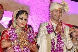 Tej Pratap Yadav with Aishwarya Rai after their marriage. Tej Pratap Yadav had filed his divorce petition before a court here on November 03. The matter is likely to come up for hearing on November 29.
