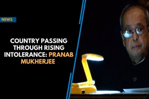 Country passing through rising intolerance: Pranab Mukherjee