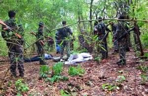 Four bodies of the Maoists were recovered from the encounter site in the interiors of Banskatwa, 200 km from Patna. (PTI file photo)