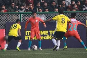 Real Kashmir beat Indian Arrows in the I-League.