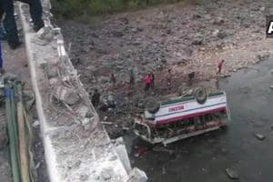 Four passengers, including three women, died on the spot, while five critically-injured persons succumbed to their injuries in a hospital.