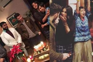 The Sky Is Pink team hosts a small bash for Priyanka Chopra and Nick Jonas ahead of their departure for their wedding destination.