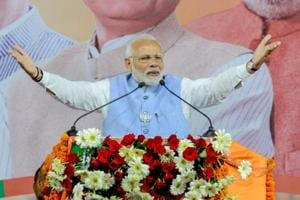 Prime Minister Narendra Modi addresses a public meeting for Madhya Pradesh Assembly elections campaign, in Jabalpur on November 25.