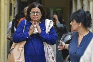 Sangeeta Suneja mother of Bhavye Suneja, the captain of the Indonesian plane that crashed soon after take off from Jakarta, Indonesia today, at their Mayur Vihar residence, in New Delhi, Monday, Oct 29, 2018.