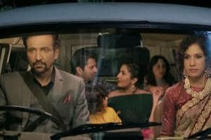 The web show The Great Indian Dysfunctional Family stars actors Kay Kay Menon and Barun Sobti (seen in the background).