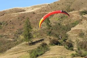 Paragliding is one of the adventure activities at the Mechuka Festival.