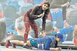 Bollywood star and fitness enthusiast Shilpa Shetty Kundra was present at the AFMC ground in Wanowrie in Pune on Sunday for the Guinness world record attempt.