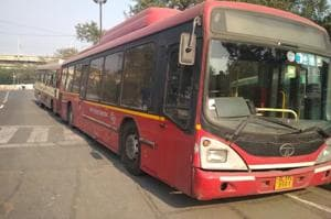 Both buses --the private bus with UP registration number and the DTC bus - were impounded and the errant bus driver, arrested.