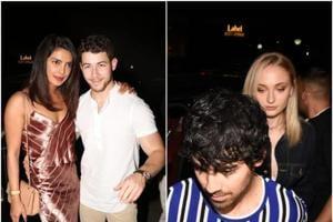 Priyanka Chopra and Nick Jonas partied with Joe Jonas and Sophie Turner in Mumbai on Monday.
