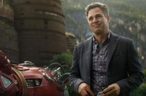 Mark Ruffalo as Bruce Banner/Hulk in a still from Avengers: Infinity War.