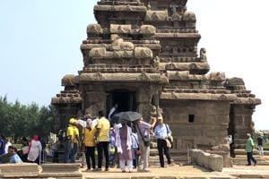 The Shore temple at Mahabalipuram.