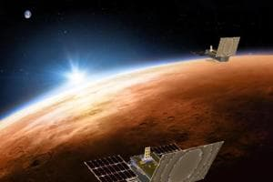 NASA's unmanned Martian quake sensor, InSight, has landed at a slight angle on the Red Planet,