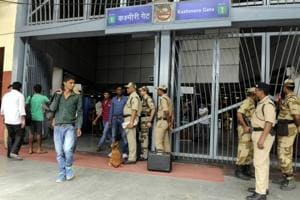 CISF said that at stations like Kashmere Gate which have a high footfall, every passenger is being frisked twice before they can head towards the turnstiles.