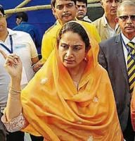 Union minister for food processing Harsimrat Kaur Badal