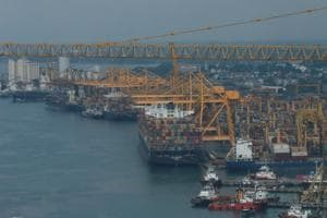 The contracts are a $32 million project to enhance the deep berth capacity of state-run Jaya Container Terminal in Colombo and another one worth $25.7 million for the purchase of three cranes for the same project.