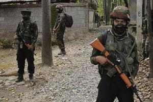 Two militants of the Hizbul Mujahideen were killed by security forces in a gun battle in south Kashmir's Pulwama district early on Thursday, police said