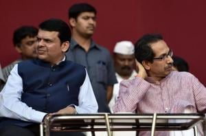 File photo of Maharashtra CM Devendra Fadnavis and Shiv Sena chief Uddhav Thackeray.  Ties between the two parties have been strained and the Sena has been critical of the BJP's policies and central leadership.lm