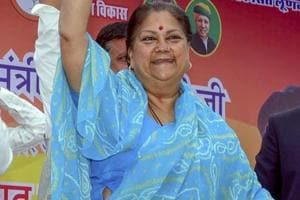 Rajasthan Chief Minister Vasundhara Raje at an election rally in Bikaner, Monday, Nov, 26, 2018. She has been campaigning extensively for BJP candidates ahead of Rajasthan Assembly Election.