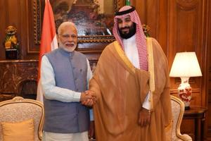 """""""We discussed multiple aspects of India-Saudi Arabia relations and ways to further boost economic, cultural and energy ties,"""" the Prime Minister Narendra Modi wrote on Twitter."""