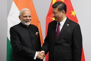 PM Narendra Modi with President Xi of China at G20 summit.