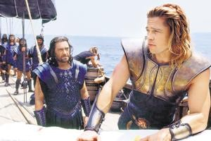 Brad Pitt plays Achilles in the  Hollywood film Troy (2004) that dramatises the Trojan War, the crux of Homer's Iliad.