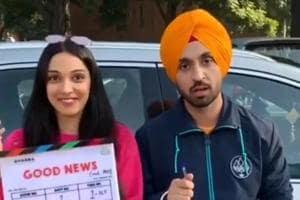 Kiara Advani and Diljit Dosanjh announced onInstagram that the shooting for Akhay Kumar, Kareena Kapoor starrer GoodNews has begun.
