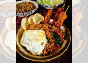 The Asian Box Nasi Goreng.... light years away from many street dishes of the same name