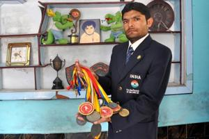 Mehtab Hussain, a daily wager at a meat factory in Bareilly, is locally famous as 'Bolt'— the last name of Jamaican sprinter and nine-time Olympic gold medallist Usain Bolt – for his athletic prowess.
