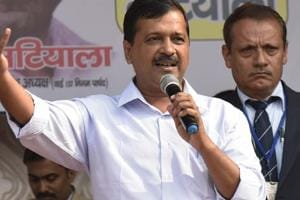 Delhi Chief Minister Arvind Kejriwal at a rally in New Delhi.  The three civic bodies of Delhi have passed a censure motion against the AAP government for its 'lukewarm response' in releasing funds.