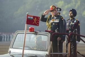 Pune: Army Chief Gen. Bipin Rawat reviews during the passing out parade of the 135th course of the National Defence Academy (NDA), in Pune, Friday, Nov. 30, 2018. (PTI Photo)