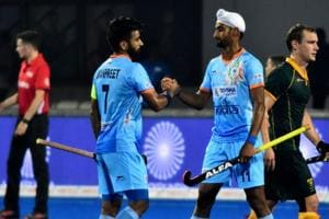 India's campaign got off to a rollicking start with a 5-0 win over South Africa.